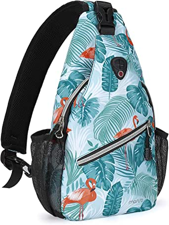 MOSISO Mini Sling Backpack Small Hiking Daypack Travel Outdoor Casual Sports