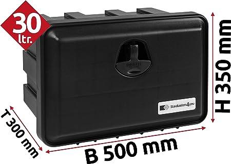 28l Unterbaubox Für Nutzfahrzeuge Oder Anhänger Staubox Werkzeugkiste Gurtkiste Deichselbox Auto