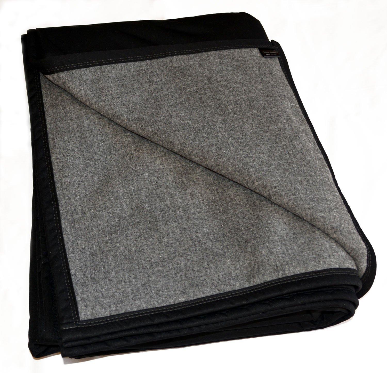TETON DOG BEST 100% WATERPROOF FLEECE PET THROW DOG BLANKET; Washable, Hypoallergenic: Guaranteed Protection For Furniture & Bed Made in USA (84 x 60)(POLARTEC Heather Grey Fleece w Black)