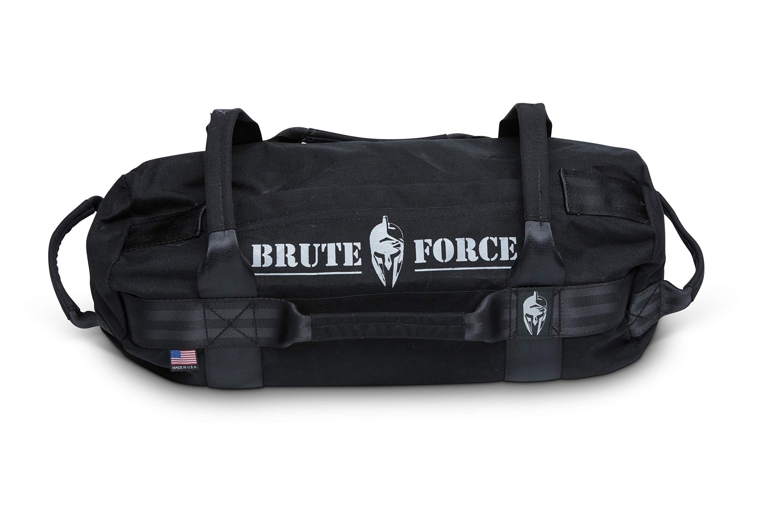 Brute Force Sandbags - Mini Sandbag - Black - Heavy Duty Sandbag Crossfit Workout Equipment Weighted Bags Heavy Sand Bags Military sandbags