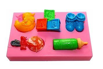 Silikonform Babysachen Taufe Ausstechform Kuchen Tortendeko Marzipan Fondant Neu