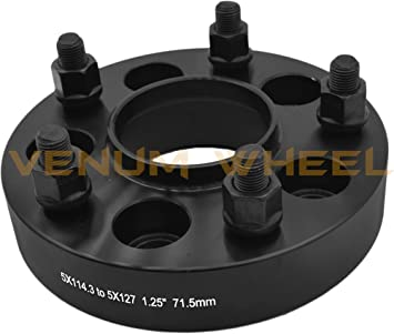 """5PC 2/"""" HUBCENTRIC WHEEL SPACER ADAPTER CONVERSION JEEP WRANGLER 5X114.3 TO 5X5"""