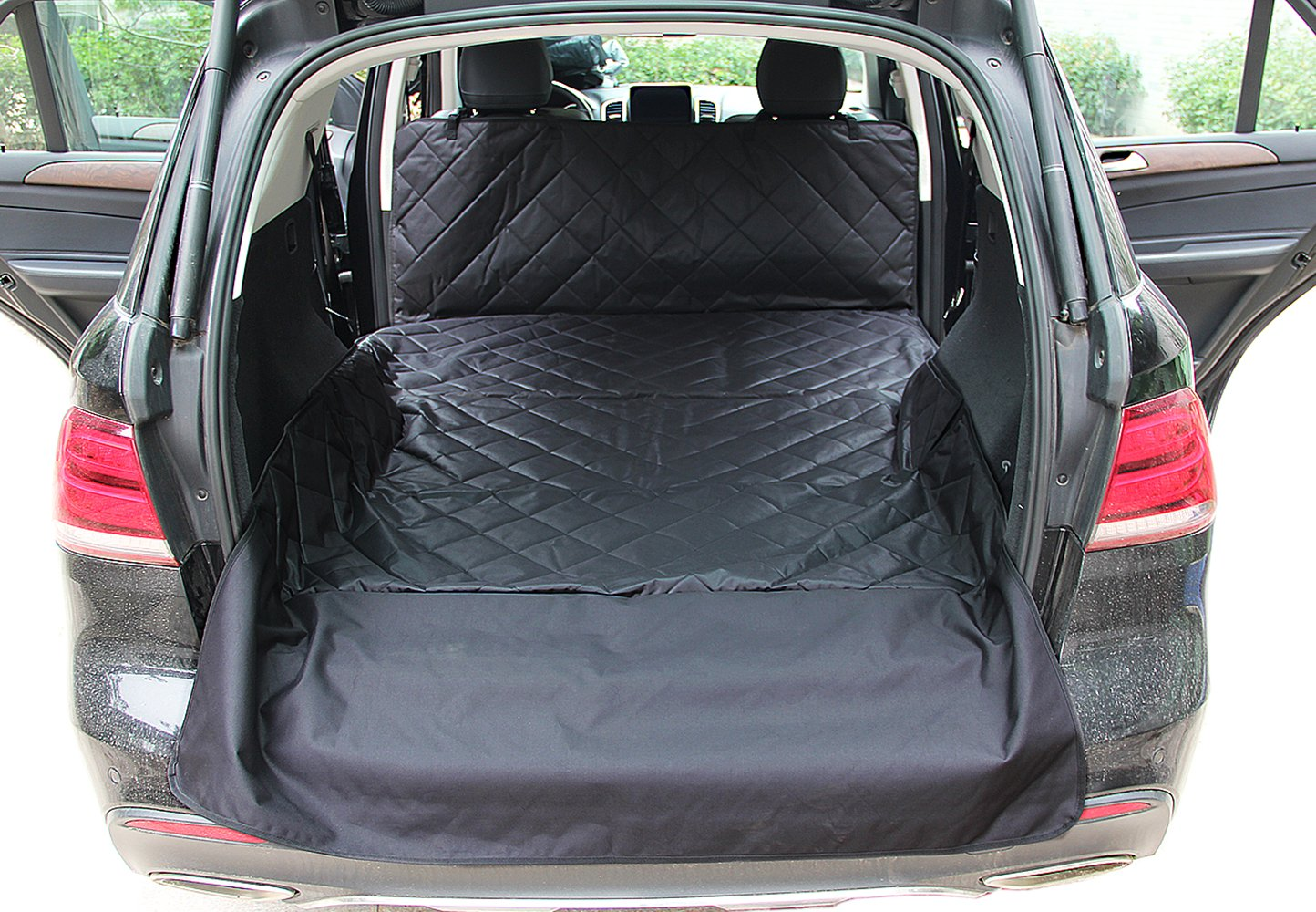 INNX SUV Cargo Liner for Pets, Quilted Dog Cargo Cover for SUV, Minivans, Jeeps, Pick up, Waterproof (Black, 106'' Lx55 W)