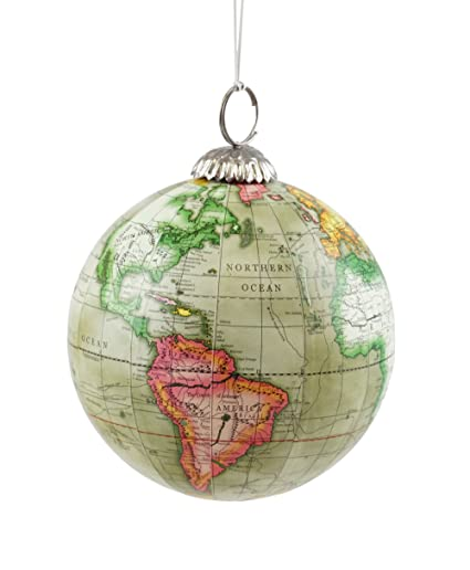 Buy old world map globe hanging christmas tree ornament by creative old world map globe hanging christmas tree ornament by creative co op gumiabroncs Choice Image