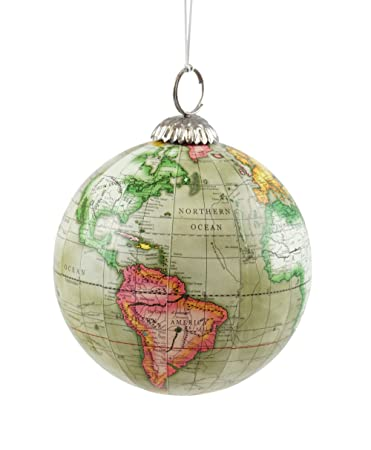 Amazon old world map globe hanging christmas tree ornament by old world map globe hanging christmas tree ornament by creative co op gumiabroncs Image collections