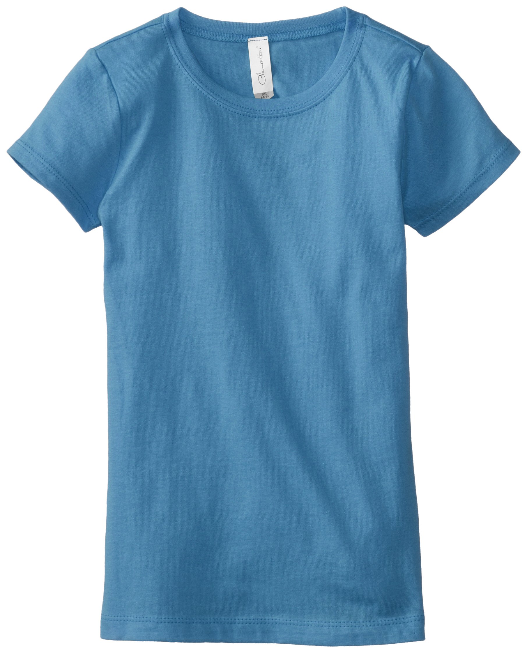 Clementine Big Girls' Everyday T-Shirt, Turquoise, Large(10-12)