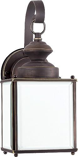 Sea Gull Lighting 84157D-71 Jamestowne One-Light Outdoor Wall Lantern, Antique Bronze