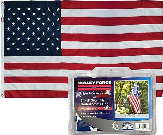 American Flag 3 x 5 Outdoor Nylon Embroidered USA Flag