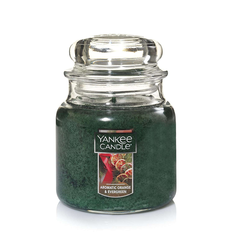 Aromatic Orange /& Evergreen Yankee Candle Company 1556149Z Yankee Candle Medium Jar Candle