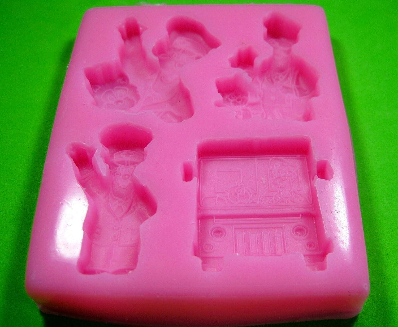 Cartero Pat y Jess Molde de silicona para la torta de Decoración ...