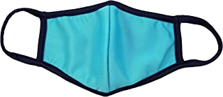product image for DewAmor Reusable Washable Lightweight Neoprene/Cotton Face Mask (Turquoise) (Made in USA) (Multi- Pack)