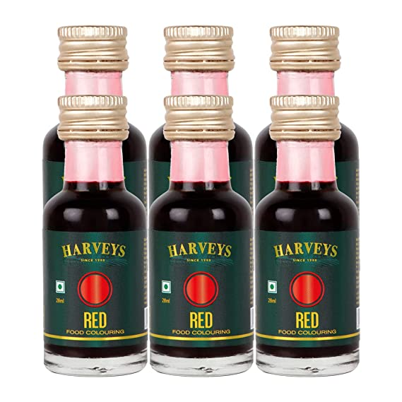 Harveys Food Colour Ideal for Baking & Cooking 28 ml - Red ...