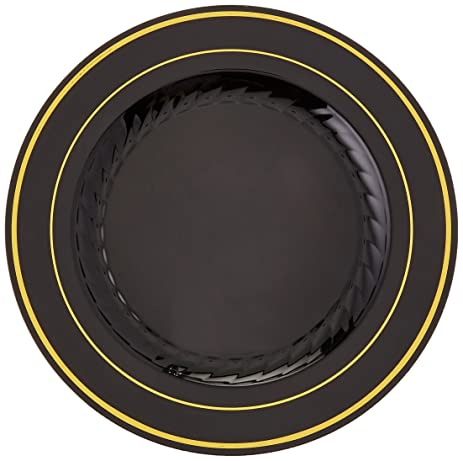 Amazon.com   Fineline Settings 509BKG - 9 Inch Silver Splendor Black ...