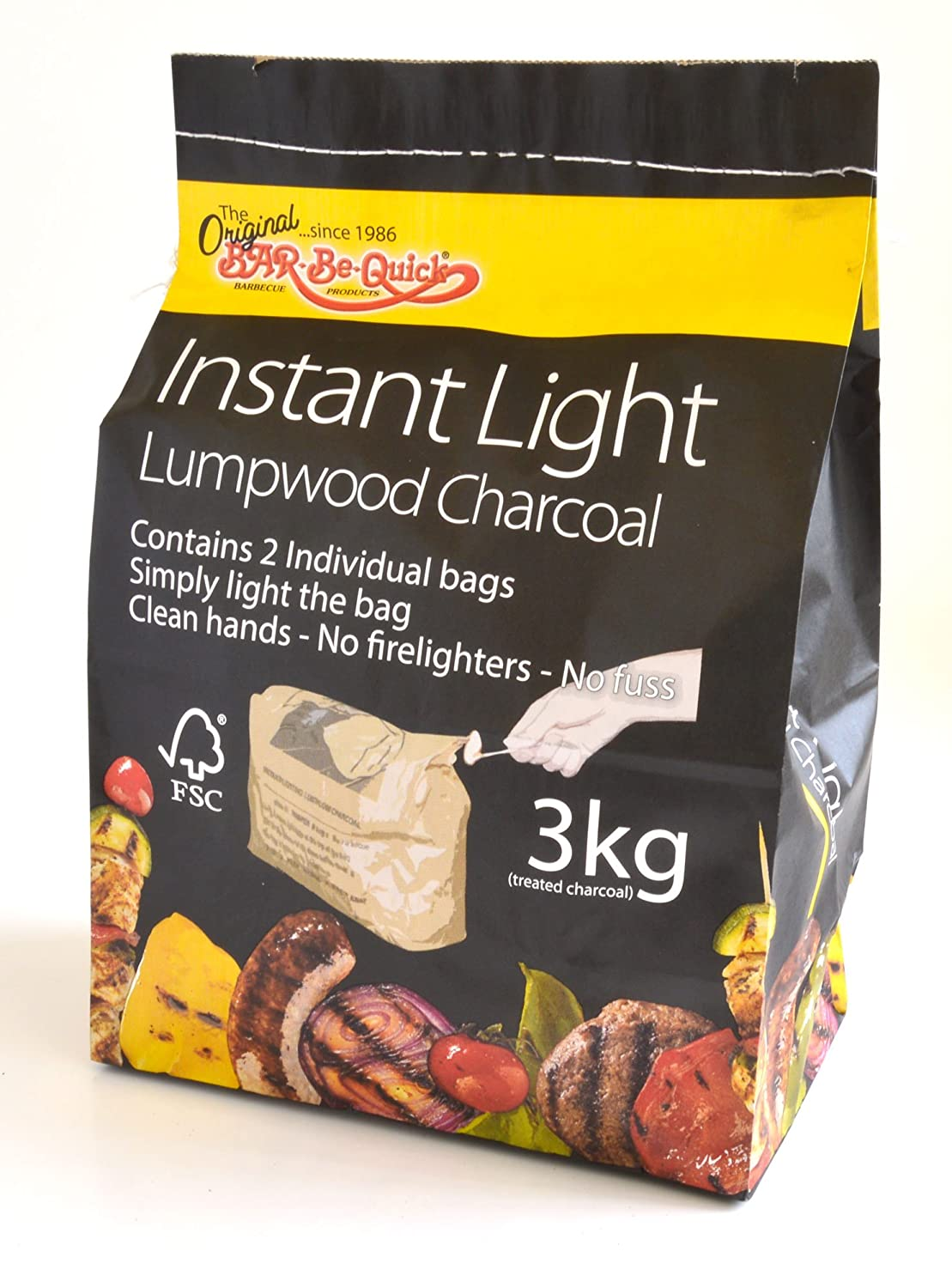 BAR-BE-QUICK Instant Light Charcoal 3KG Proteam