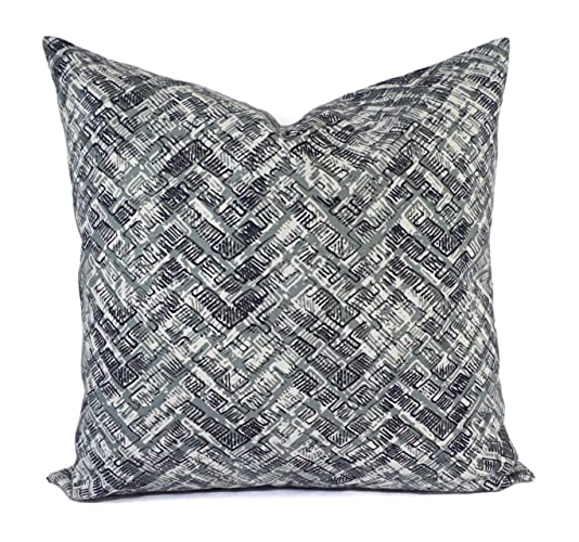 Amazoncom Gray Taupe Navy Brown Pillows Modern Pillow Cover