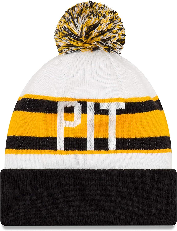 New Era Pittsburgh Steelers Retro Cuff Pom Knit Hat