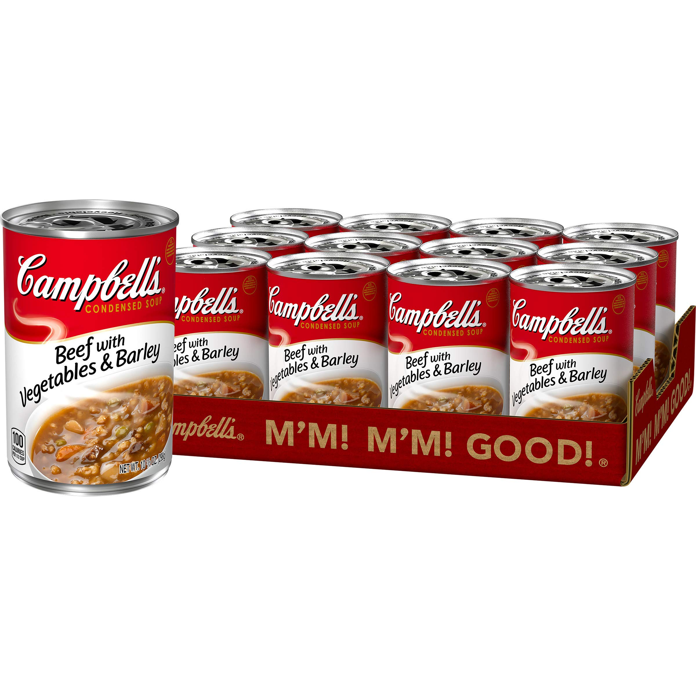Campbell'sCondensed Beef with Vegetables & Barley Soup, 10.5 Ounce (Pack of 12)