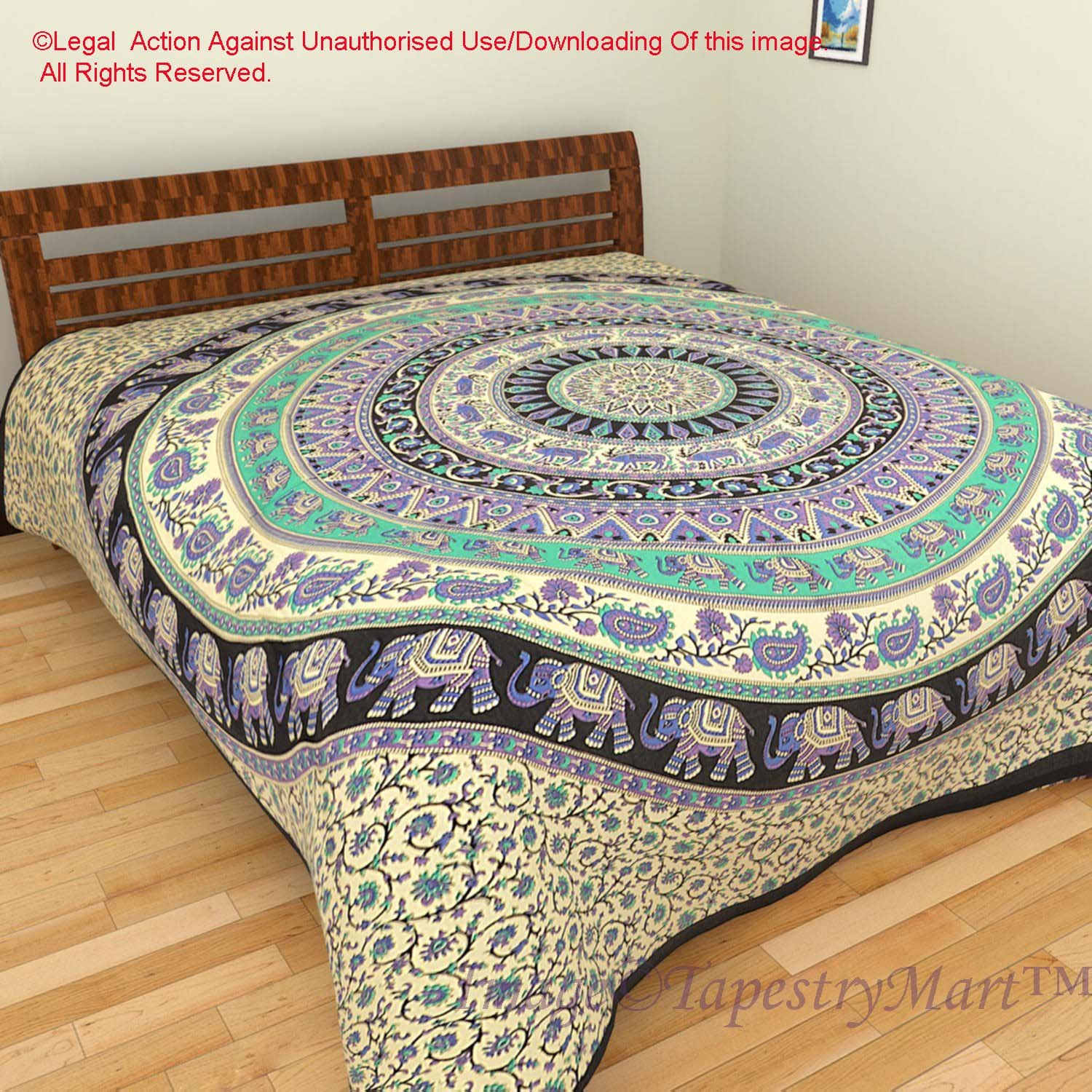 Bedsheet Bedspread Bedcover Tapestry Tapestries Wall Hanging Beach Throw Table Cloth Yoga Mat (Ta532a)