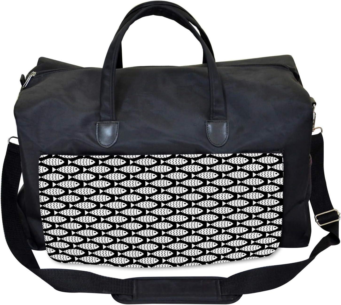 Marine Creatures Sea Large Weekender Carry-on Ambesonne Animal Gym Bag