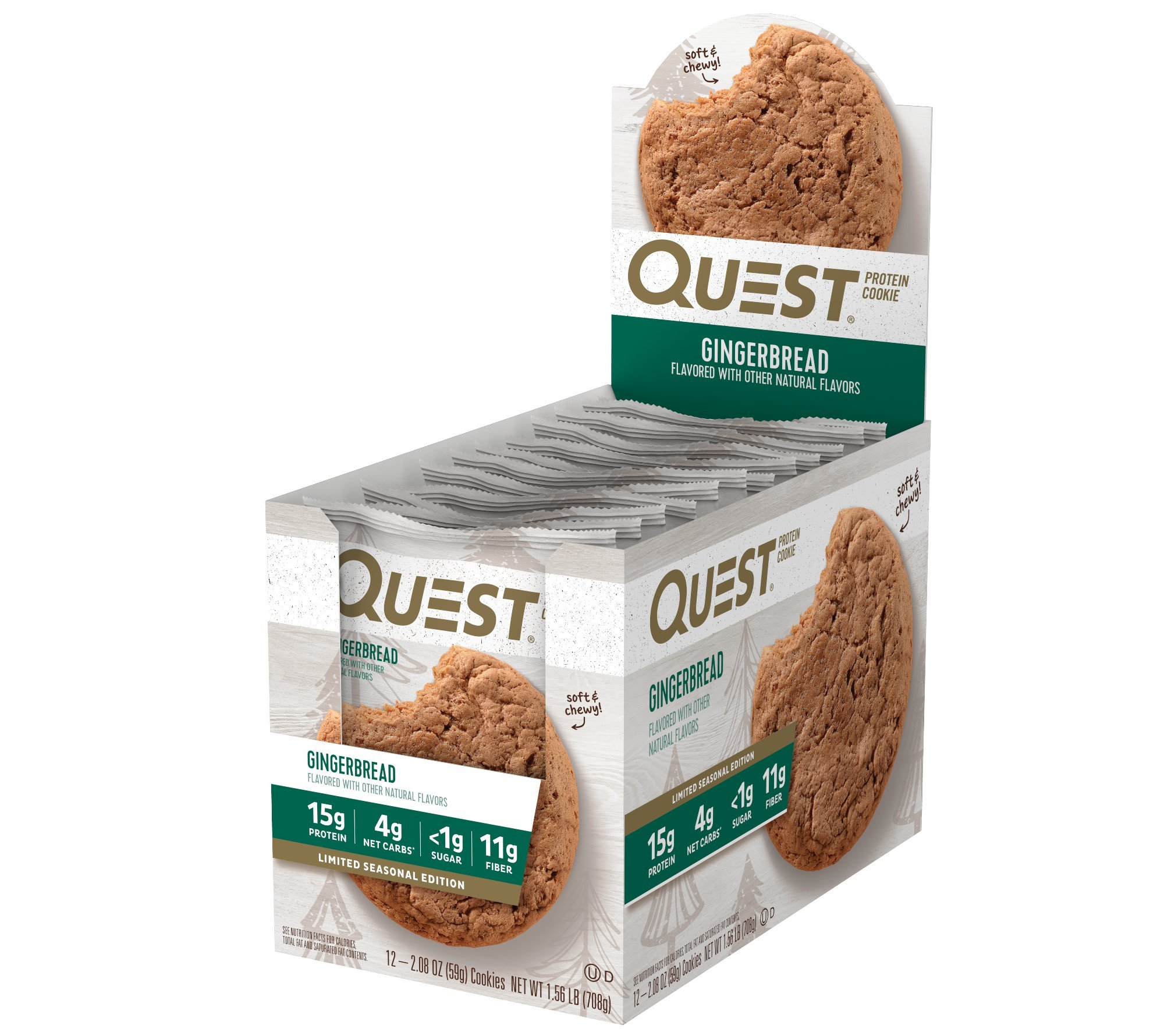 Quest Nutrition Protein Cookie, Gingerbread, 12 Count