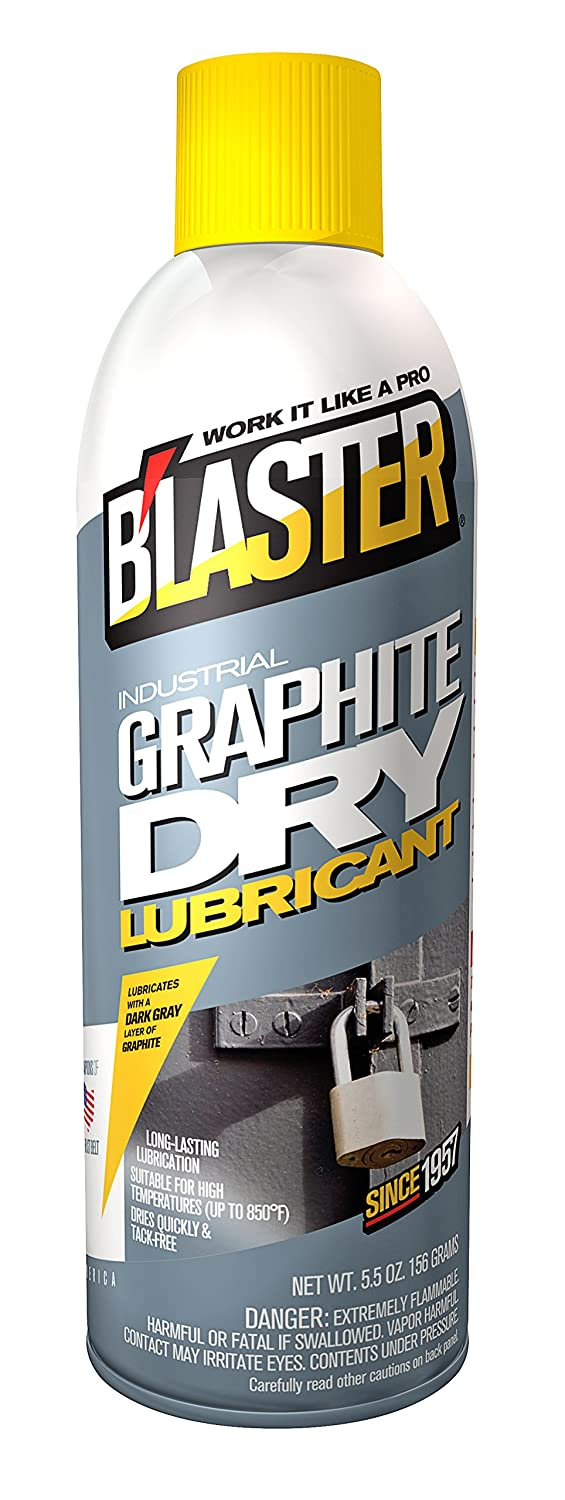 B'laster 8-GS-12PK Industrial Graphite Dry Lubricant - 5.5-Ounces - Case of 12 B' laster