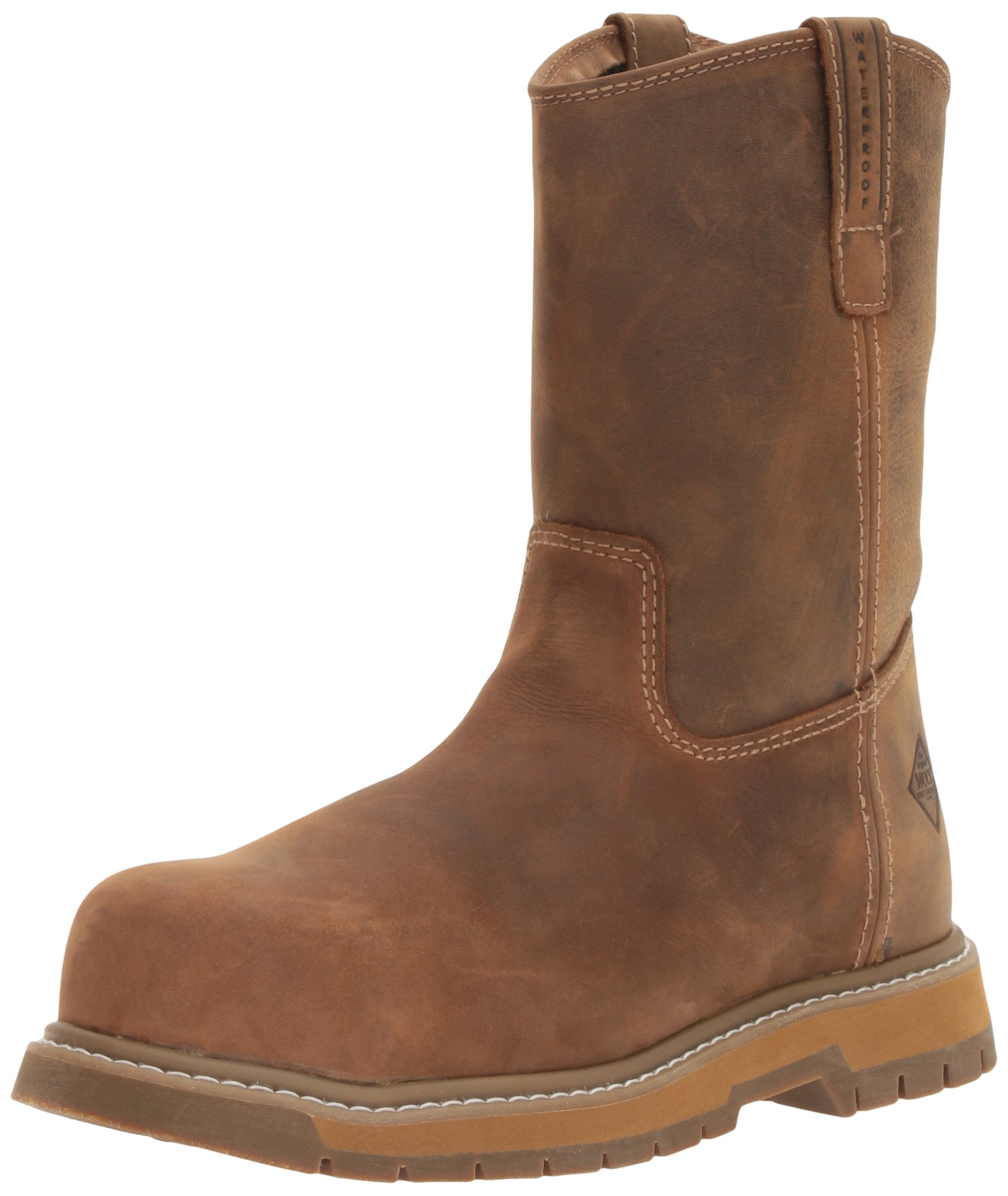 Muck Boot Men's Wellie Classic Comp Toe Work Boot, Brown, 13 M US