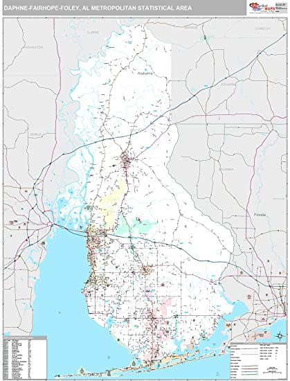 Gulf Shores Al Zip Code Map.Amazon Com Marketmaps Daphne Fairhope Foley Al Metro Area Wall Map