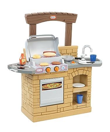Amazon.com: Juego barbacoa al aire libre cocina Little Tikes ...