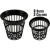 NP2AB: 2 Inch Black Slotted Mesh Net Pot for Hydroponics/Aquaponics/Orchids - 50 Pack