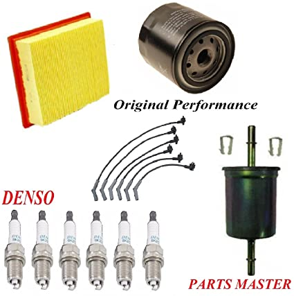 amazon com 8usauto tune up kit air oil fuel filters wire spark plug Ford Explorer Fuel Filter Diagram amazon com 8usauto tune up kit air oil fuel filters wire spark plug fit ford explorer v6 4 0l ohv 1999 2000 automotive