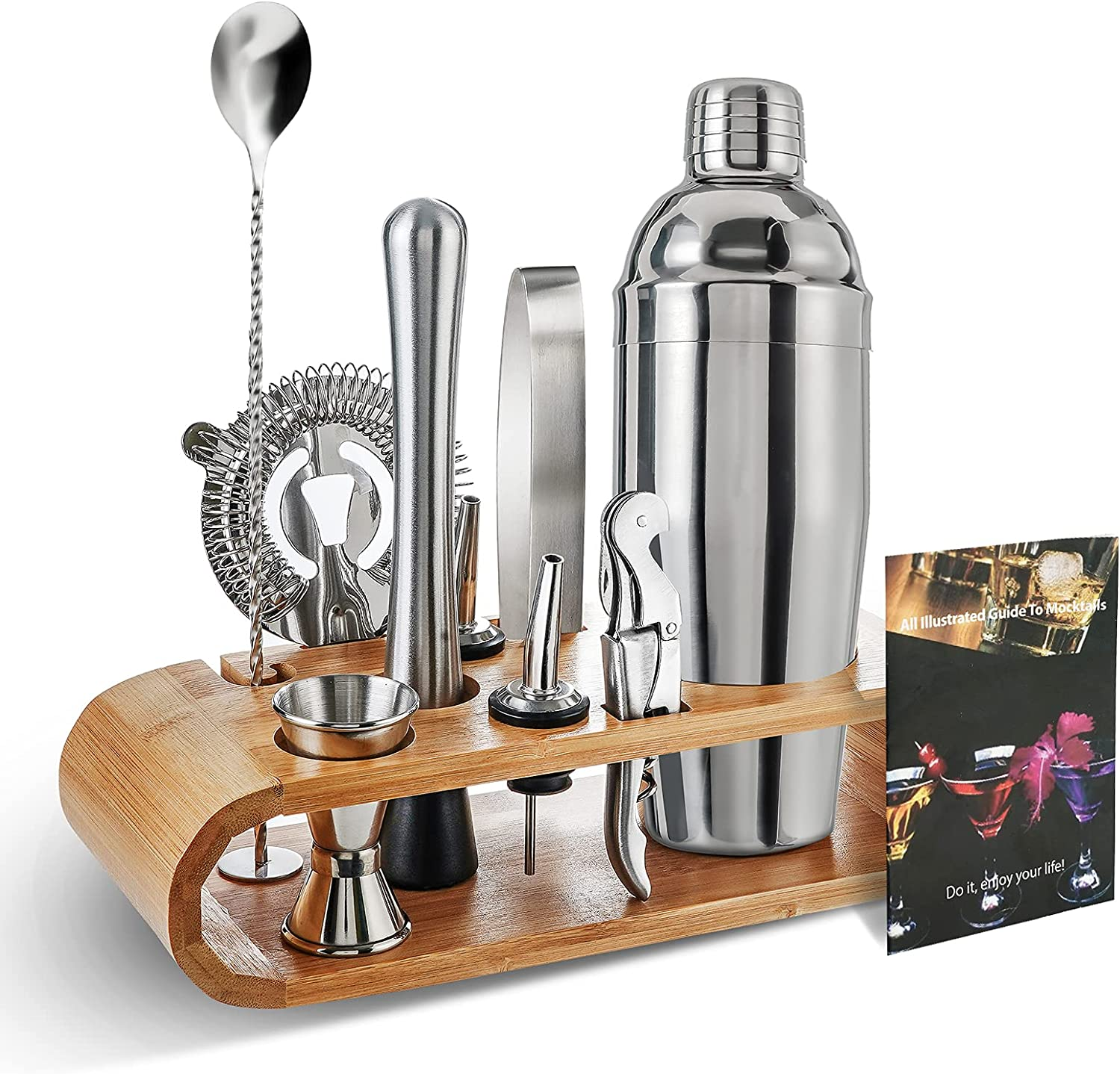 Cocktail Shaker Set with Stand Mixing Kit High sold out order Bartender for Drink