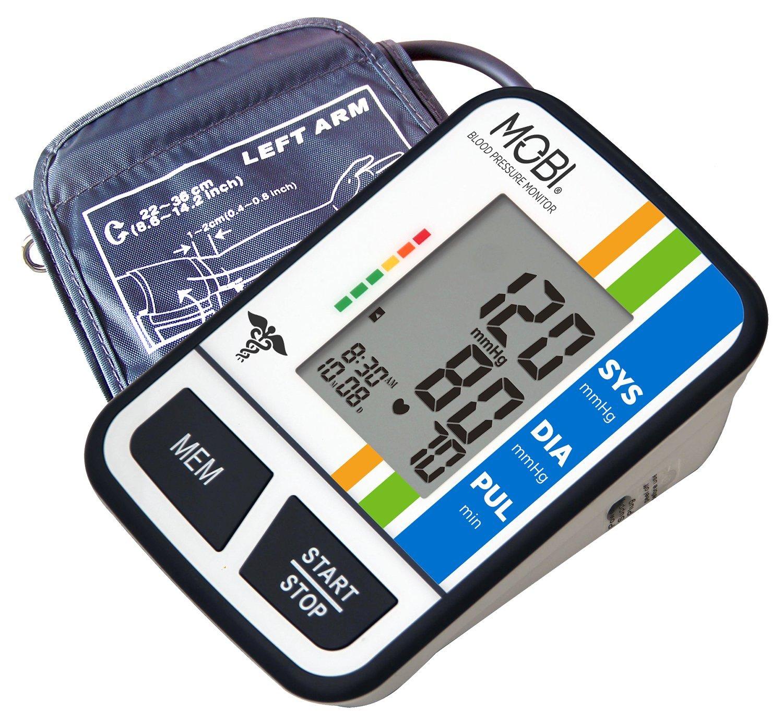 MOBI Health Arm Blood Pressure Monitor Indicator Irregular Heart Pulse Rate