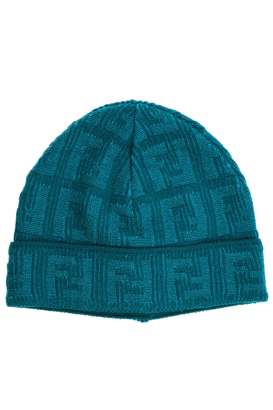 Fendi women's wool beanie hat blu US size UNI FXQ538 Q00 F0QC7