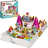 LEGO Disney Ariel, Belle, Cinderella and Tiana's Storybook Adventures 43193 Building Toy for Kids; New 2021 (130 Pieces)