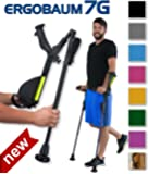 Ergobaum® Prime By Ergoactives. 1 Pair (2 Units) of Ergonomic Forearm Crutches - Adult 5' - 6'6'' Adjustable.