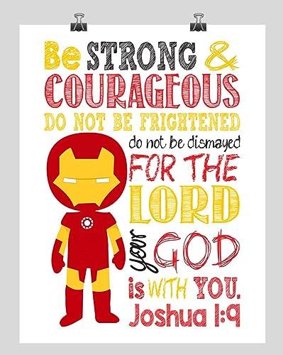 Amazon.com: Ironman Christian Superhero Wall Art Nursery Decor Print ...