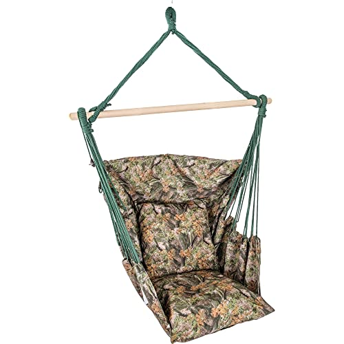 Camo Hanging Rope Chair Porch Swing Seat Patio Camping Max. 265 lbs
