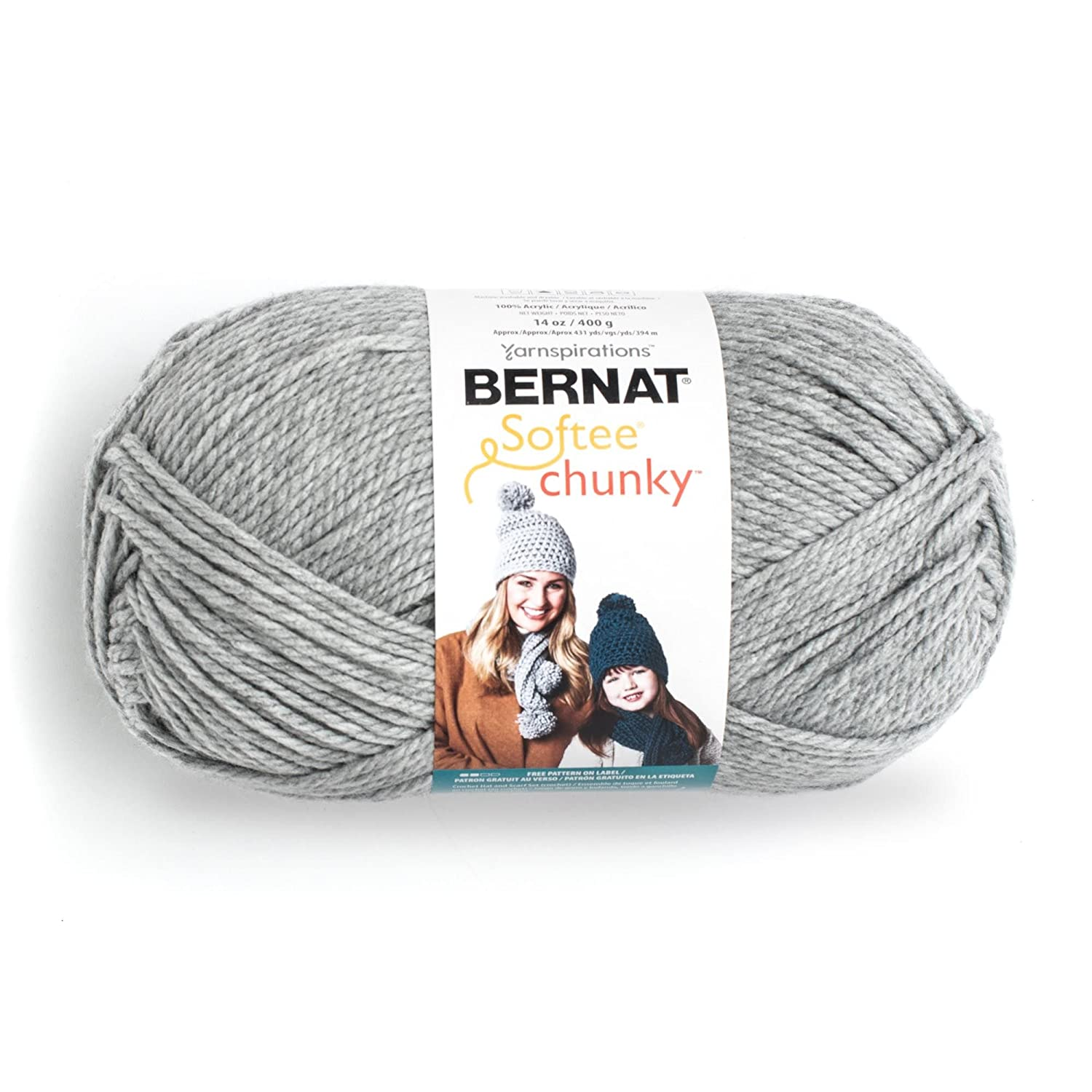 Amazon.com: Bernat Big Ball Chunky Solid Yarn - (6) Super Bulky ...