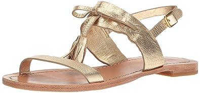c90a1b06c766 Kate Spade New York Women s Carlita Flat Sandal Gold 5 Medium US