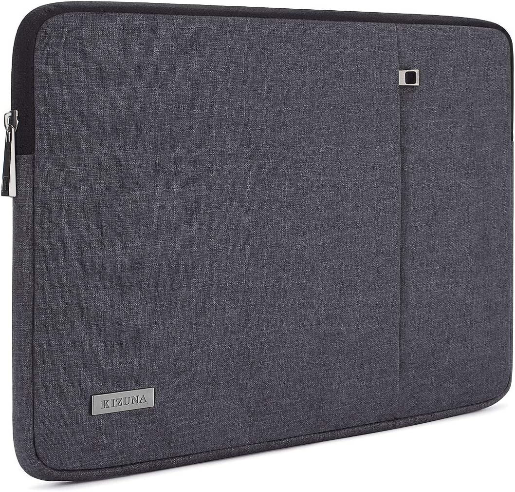 "KIZUNA Laptop Sleeve 15-15.6 Inch Water-Resistant Computer Case Carrying Bag for 16"" MacBook Pro/15.6"" Lenovo Yoga 730/Ideapad 330S/Flex 4 5/15.6"" HP EliteBook 755 G5/ASUS ROG Zephyrus S, Dark Grey"