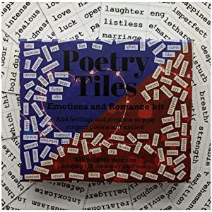 Poetry Tiles - 536 Emotions and Romance Fridge Word Magnets -Themed Kit for Refrigerator Poems and Stories