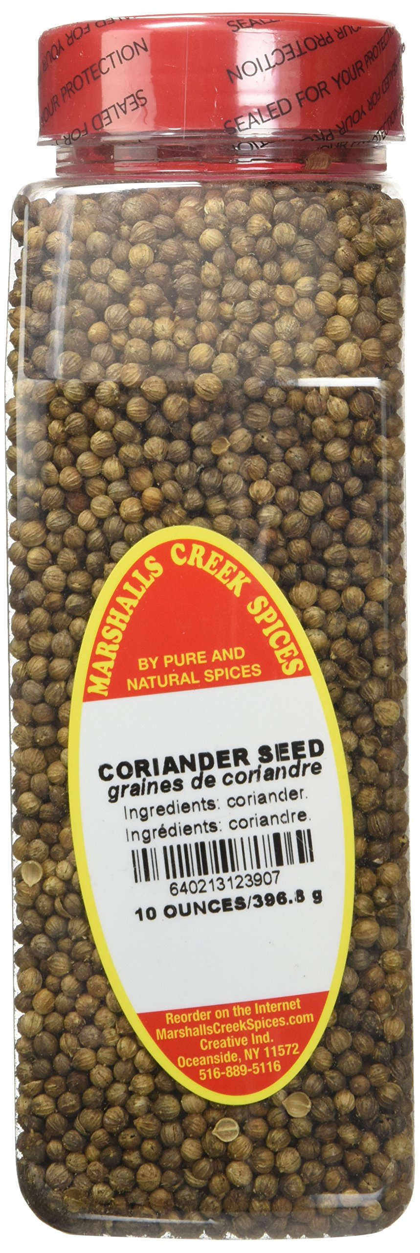 Marshalls Creek Spices Coriander Seed Seasoning, Whole, XL Size, 10 Ounce