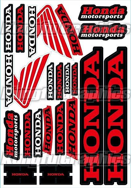 Kungfu graphics honda wing sponsor logo racing sticker sheet universal 7 2x 10 2 inch