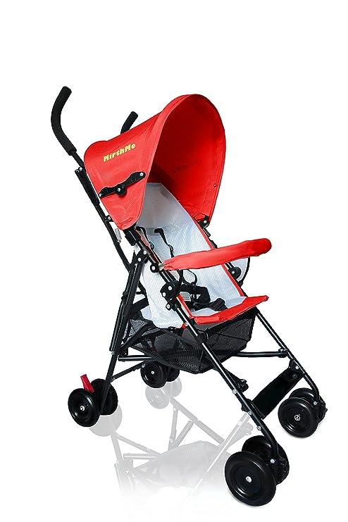 MirthMe luz peso bebé carrito/cochecito/cochecito de bebé (color rojo) Original con cubierta para la lluvia