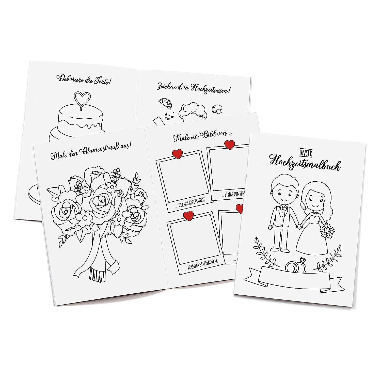 Wedding Shop Love Grows 10 Stuck Hochzeitsmalbuch Dina6 24 Seitig