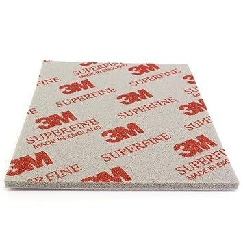 3 M Soft Pad 868 - - Esponja de lija de 1 pieza 03810 Superfine extrafina P400 P500 grano 200: Amazon.es: Coche y moto