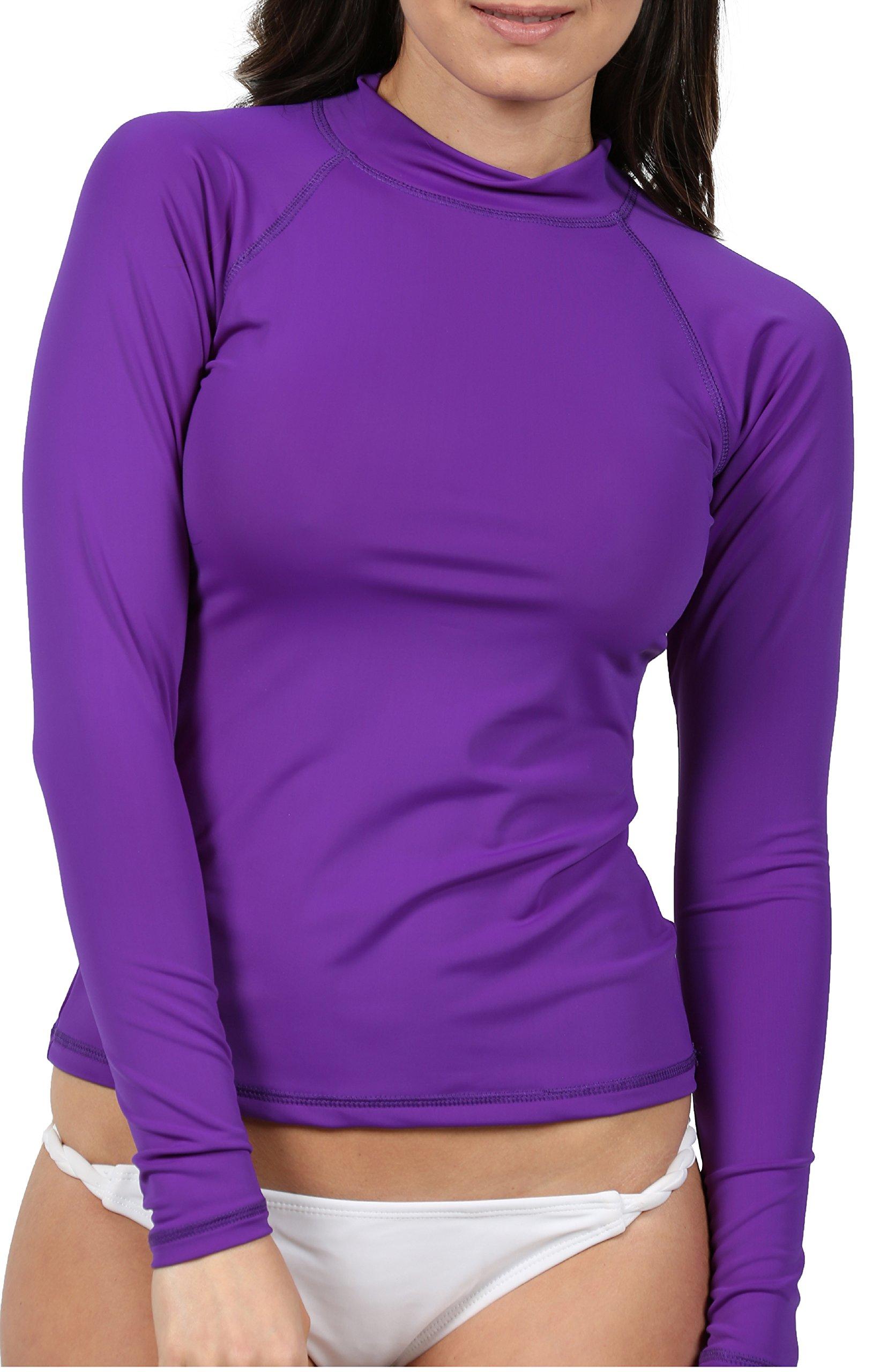Ingear Ladies Rash Guard Made in USA (Small, Seafoam) (XXlarge, Purple)