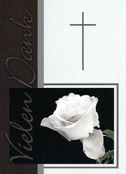 Trauer Danksagungskarten Trauerkarten 22 Klappkarten mit Umschlägen