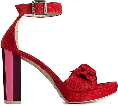 Nero Giardini Sandalo Donna MOD. P908540DE Rosso: Amazon.it