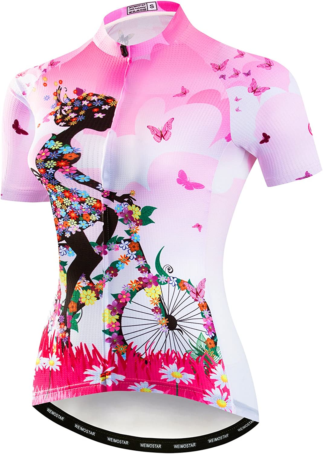 Short Sleeved Bike Shirt Mountain Jersey Comfortable Quick Dry Wear Top Womens Cycling Jersey